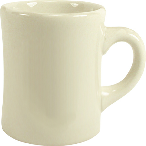 White Restaurant Mug as seen from the front