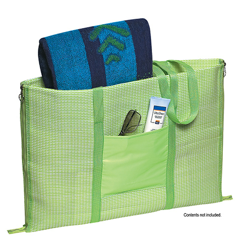 Lime Green Beach Buddy Mat as seen from the front