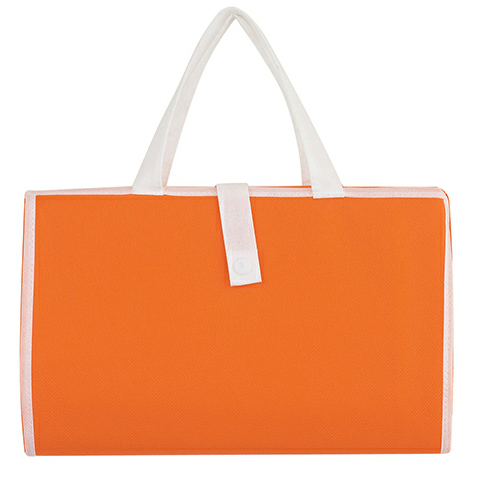Orange Non-Woven Budget Beach Mat as seen from the front