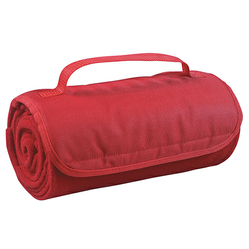 Red Roll-Up Blanket as seen from the front