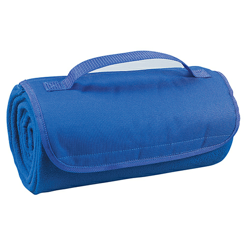 Royal Blue Roll-Up Blanket as seen from the front