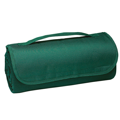 Hunter Green Sweatshirt Roll-Up Blanket as seen from the front