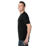 Eclipse Unisex Bamboo Organic Cotton Tee as seen from the sleeveleft