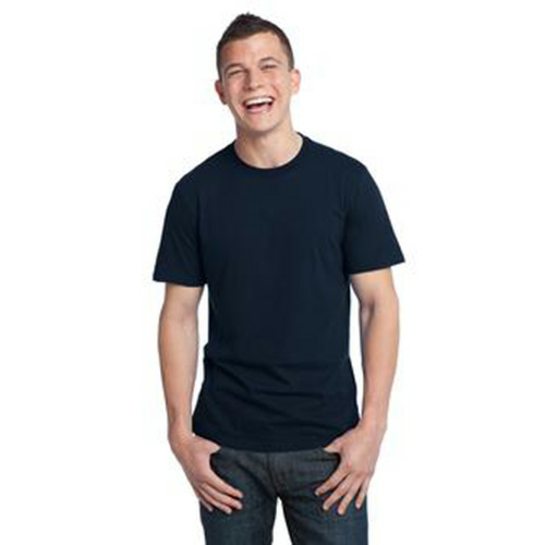 Midnight Unisex Bamboo Organic Cotton Tee as seen from the front