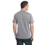 Pewter Unisex Bamboo Organic Cotton Tee as seen from the back