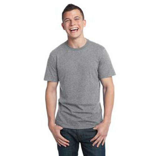 Pewter Unisex Bamboo Organic Cotton Tee as seen from the front