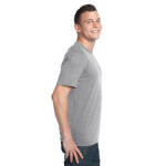 Pewter Unisex Bamboo Organic Cotton Tee as seen from the sleeveright
