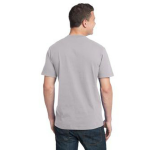 Silver Unisex Bamboo Organic Cotton Tee as seen from the back