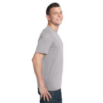Silver Unisex Bamboo Organic Cotton Tee as seen from the sleeveright