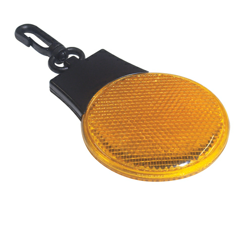 Yellow Tri-Function Blinking Light as seen from the front
