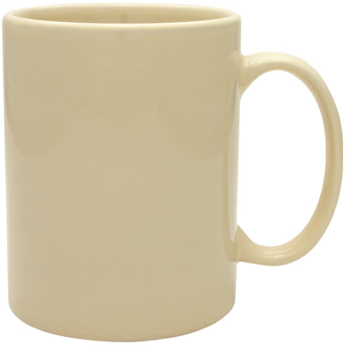 Almond 11 oz. Ceramic Mug as seen from the front