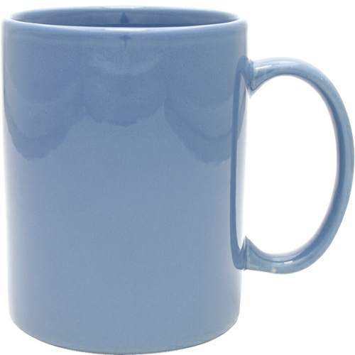 Ocean Blue 11 oz. Ceramic Mug as seen from the front