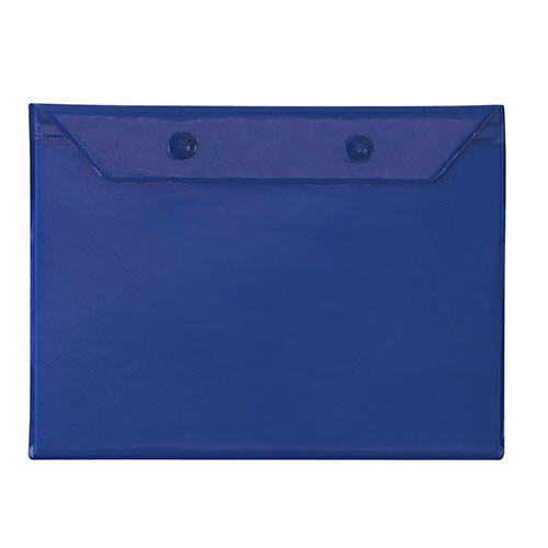 Royal Blue Adult Poncho as seen from the front