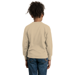 Natural Organic Toddler Long Sleeve Thermal as seen from the back