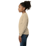 Natural Organic Toddler Long Sleeve Thermal as seen from the sleeveleft