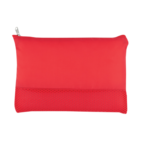 Red Mesh Vanity Bag as seen from the front