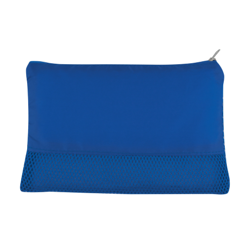 Royal Blue Mesh Vanity Bag as seen from the front