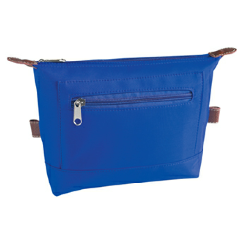 Royal Blue Microfiber Cosmetic Bag as seen from the front