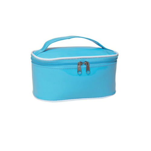Light Blue Cosmetic Bag as seen from the front
