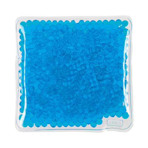 Blue Square Gel Beads Hot/Cold Pack as seen from the front