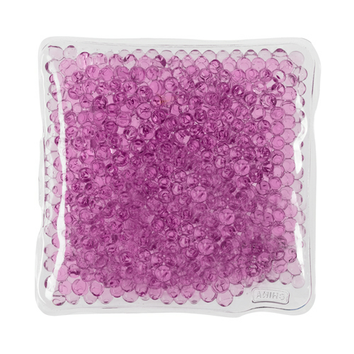 Purple Square Gel Beads Hot/Cold Pack as seen from the front