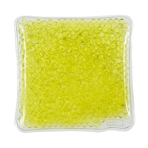 Yellow Square Gel Beads Hot/Cold Pack as seen from the front