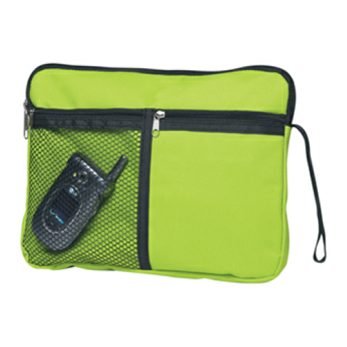 Lime Green Multi-Purpose Personal Carrying Bag as seen from the front