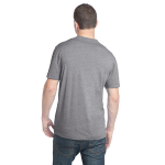 Heather Ash Unisex Organic RPET Blend Tee as seen from the back