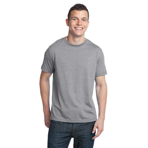 Heather Ash Unisex Organic RPET Blend Tee as seen from the front
