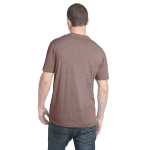 Heather Bark Unisex Organic RPET Blend Tee as seen from the back