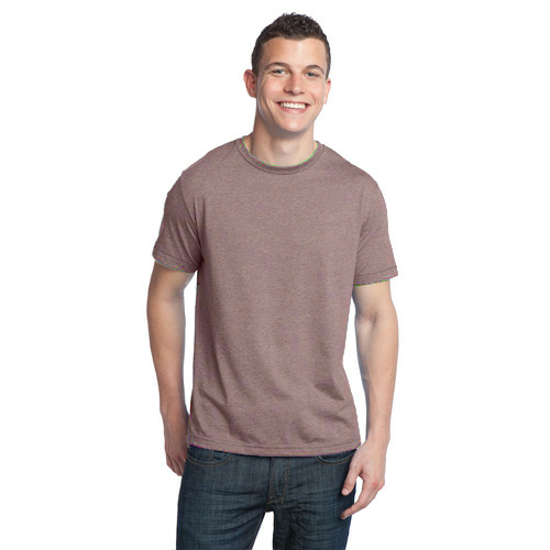 Heather Bark Unisex Organic RPET Blend Tee as seen from the front