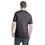 Heather Coal Unisex Organic RPET Blend Tee as seen from the back
