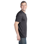 Heather Coal Unisex Organic RPET Blend Tee as seen from the sleeveright