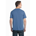 Heather Dusk Unisex Organic RPET Blend Tee as seen from the back