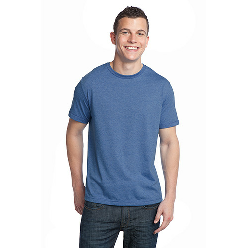 Heather Dusk Unisex Organic RPET Blend Tee as seen from the front