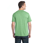 Heather Kiwi Unisex Organic RPET Blend Tee as seen from the back