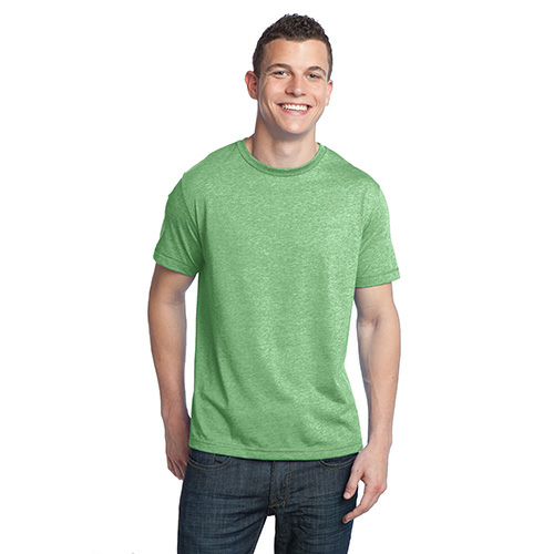 Heather Kiwi Unisex Organic RPET Blend Tee as seen from the front