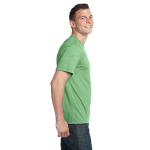 Heather Kiwi Unisex Organic RPET Blend Tee as seen from the sleeveright