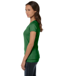 Leaf Ladies' Jersey Short-Sleeve V-Neck T-Shirt as seen from the sleeveright