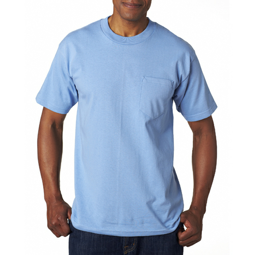 Made in the USA short sleeve tee with pocket