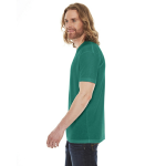Evergreen MADE IN USA Unisex Poly-Cotton Short-Sleeve Crewneck as seen from the sleeveright