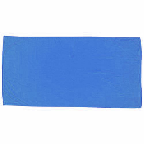 Coastal Blue Embroidered Colored Beach Towel as seen from the front