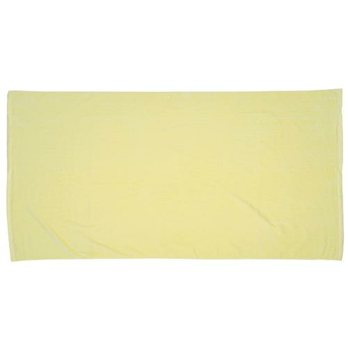 Light Yellow Printed Colored Beach Towel as seen from the front