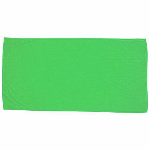 Lime Green Printed Colored Beach Towel as seen from the front