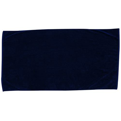 Navy Blue Embroidered Colored Beach Towel as seen from the front