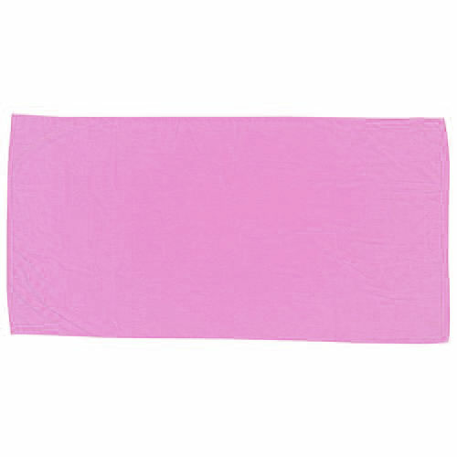 Pink Embroidered Colored Beach Towel as seen from the front