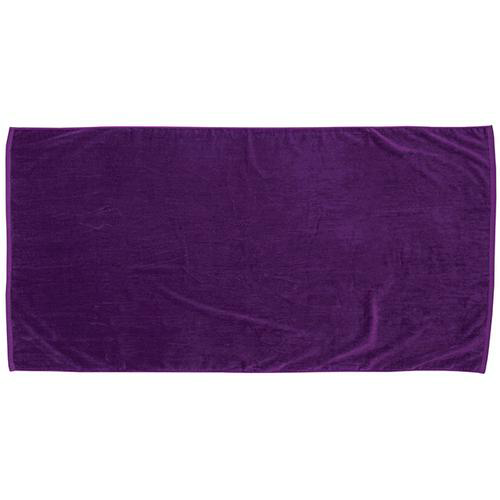 Purple Printed Colored Beach Towel as seen from the front