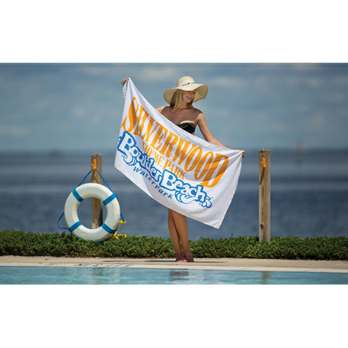 Promotional Weight White Beach Towel