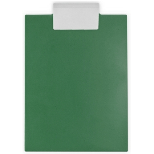 Recycled Eco Dark Green/white Letter Clipboard as seen from the front