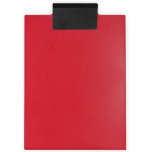 Red/eco Black Letter Clipboard as seen from the front